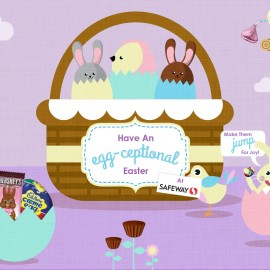 Mood visual to show style and characters for Easter.