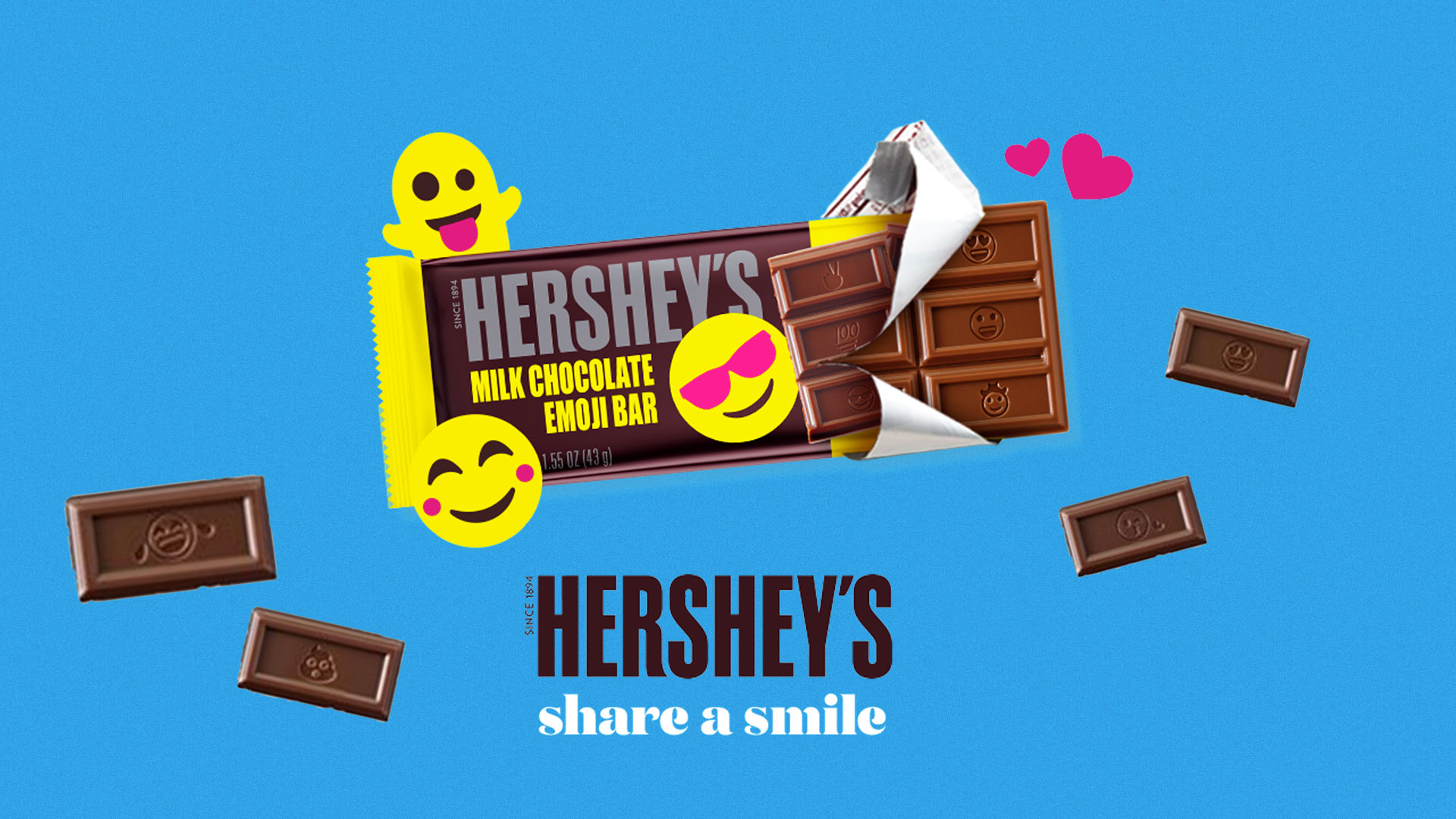 HERSHEY'S Emoji Bars